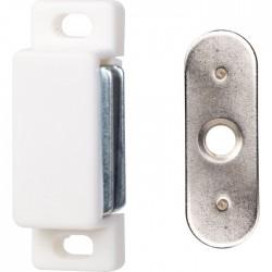 Loqueteau magnétique à visser - 2 Kg - Blanc - HAFELE - Targette / Loqueteau - SI-436066