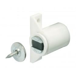 Loqueteau magnétique à visser - 3/4 Kg - Blanc - HAFELE - Targette / Loqueteau - SI-436064