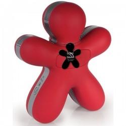 Diffuseur de parfum pour voiture / enceinte Bluetooth - George - Rouge Soft Touch - JEFF JOY FRAGRANCES - Accessoires auto / ...