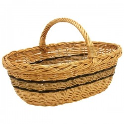 Panier ovale - Osier Buff - AUBRY GASPARD - Poussette de marché / Cabas / Panier - BR-506121