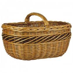 Panier ovale - Osier Buff - AUBRY GASPARD - Poussette de marché / Cabas / Panier - BR-487769