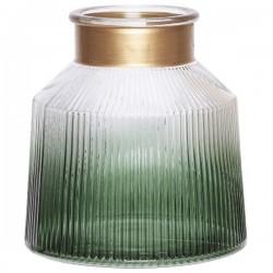 Photophore - Verre - Lanterne - Vert - H. 20 cm - COSY & TRENDY - Bougies de table / Accessoires - DE-563883