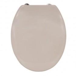 Abattant WC - Fermeture lente - Taupe - MSV - Accessoires WC - DE-504135