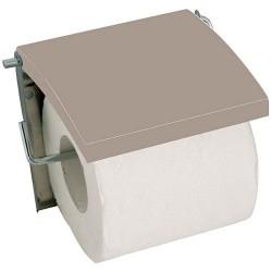 Porte rouleau - Inox / MDF - Beige - MSV - Accessoires WC - DE-505612