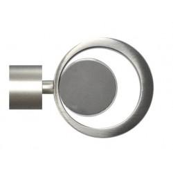 Embout de barre - Métal - Chrome mat - Cercle Mix - D 28 mm - MOBOIS - Accessoires rideaux - DE-512659