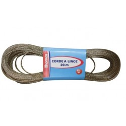 Corde à linge - 20 m - Acier plastifié - Doré - THOMAS - Séchage du linge - DE-543405
