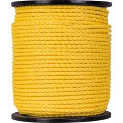Corde Polypropylène - 3 torons - 160 m / D 8 mm - Jaune - CORDERIES TOURNONAISES - Cordage - BR-085900