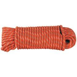 Corde Polypro tressée - 15 m / D. 6 mm - Orange - CHAPUIS - Cordage - DE-551607