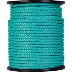 Corde Polypropylène - 4 torons - 100 m / D 10 mm - Vert - CORDERIES TOURNONAISES - Cordage - BR-087121
