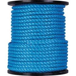 Corde Polypropylène - 4 torons - 65 m / D 12 mm - Bleu - CORDERIES TOURNONAISES - Cordage - BR-087133
