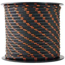 Corde Polypro tressée - 25 m / D. 3 mm - Noir / Orange - CHAPUIS - Cordage - DE-551961