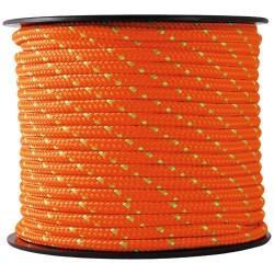 Corde Polypro tressée - 25 m / D. 3 mm - Orange / Vert - CHAPUIS - Cordage - DE-551979