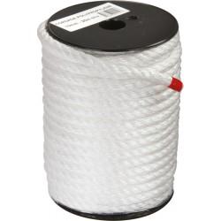 Corde Polypropylène - 3 torons - 25 m / D 10 mm - Blanc - CORDERIES TOURNONAISES - Cordage - BR-307923