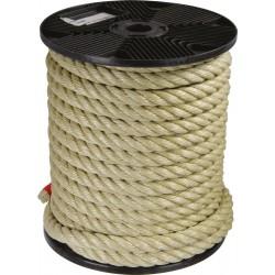 Corde Polypropylène - 4 torons - 27 m / D 18 mm - Havane - CORDERIES TOURNONAISES - Cordage - BR-461507