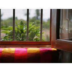 Moustiquaire en fibre de verre - 3 x 1 M - Gris - CATRAL - Rideaux - BR-412402