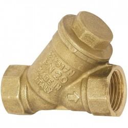 """Filtre à tamis en Y - Laiton - Femelle 15 x 21 mm - 1/2"""" - ITAP - Clapet anti-retour et filtre à tamis - SI-258015"""