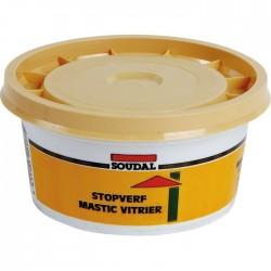 Mastic vitrier à base d'huile de lin - 500 Grs - SOUDAL - Mastic vitrier - BR-396620