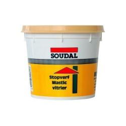 Mastic vitrier à base d'huile de lin - 1 Kg - SOUDAL - Mastic vitrier - BR-396621