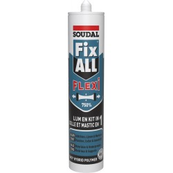 Mastic colle polymère hybride - Fix ALL Flexi - 290 ml - SOUDAL - Mastic de fixation - SI- 396234
