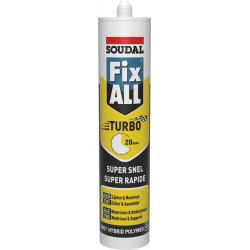 Mastic colle polymère à prise rapide - Fix ALL Turbo - 290 ml - SOUDAL - Mastic de fixation - SI- 396241