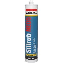 Mastic de façade ou vitrage - Silirub NEO5 - 300 ml - SOUDAL - Mastic sanitaire - SI-396748