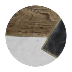 Plateau rond - Eléments - Marbre / Pierre / Bois - 30 cm - TYPHOON - Assiette / plat / plateau / coupelle - DE-553926