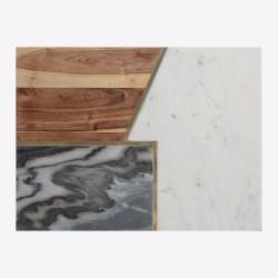 Plateau rectangle - Eléments - Marbre / Pierre / Bois - 30 x 39.5 cm - TYPHOON - Assiette / plat / plateau / coupelle - DE-55...