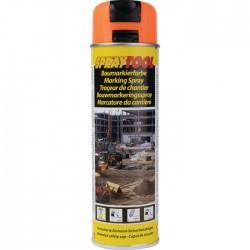 Traceur de chantier en bombe - Orange Fluo - 500 ml - MOTIP - Traceur de chantier - BR-450964