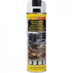Traceur de chantier en bombe - Blanc - 500 ml - MOTIP - Traceur de chantier - BR-450962