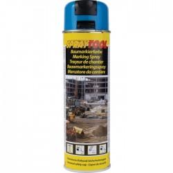 Traceur de chantier en bombe - Bleu fluo - 500 ml - MOTIP - Traceur de chantier - BR-450961