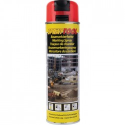 Traceur de chantier en bombe - Rouge fluo - 500 ml - MOTIP - Traceur de chantier - BR-450966