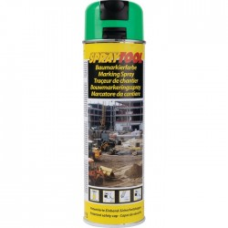 Traceur de chantier en bombe - Vert fluo - 500 ml - MOTIP - Traceur de chantier - BR-450965