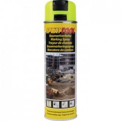 Traceur de chantier en bombe - Jaune fluo - 500 ml - MOTIP - Traceur de chantier - BR-450963