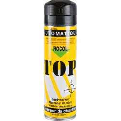 Traceur de chantier en bombe - Noir - 650 ml - ROCOL - Traceur de chantier - SI-258385