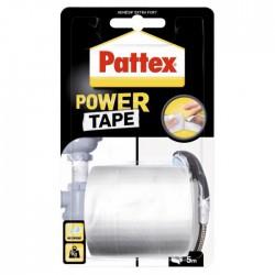 Adhésif super-puissant Power Tape Blanc - 5 m x 50 mm - PATTEX - Ruban adhésif fixateur - BR-603918