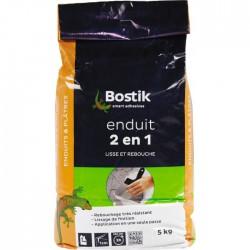 Enduit en poudre 2 en 1 - 5 kg - BOSTIK - Enduit universel / Multi-usages - BR-604433