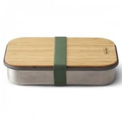 Lunchbox - 900 ml - Inox / Bambou - Olive - BLACK + BLUM - Conservation / Boite / Emballage - DE-529595