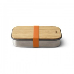 Lunchbox - 900 ml - Inox / Bambou - Orange - BLACK + BLUM - Conservation / Boite / Emballage - DE-529579