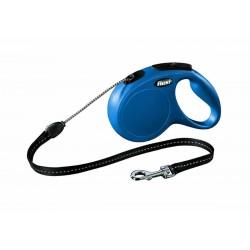 Laisse rétractable - Flexi New Classic - M /chien 20 kg - Bleu - 5 m - MARTIN SELLIER - Chiens - DE-175943