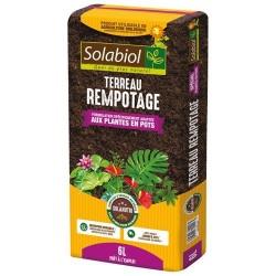 Terreau de rempotage - Plantes en pot - 6 L - SOLABIOL - Terreau - DE-306571