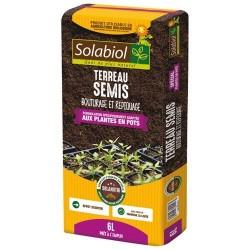 Terreau de semis - Plantes en pot - 6 L - SOLABIOL - Terreau - DE-306556