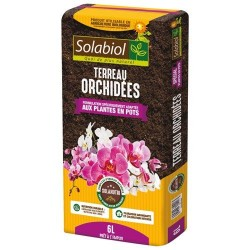 Terreau pour Orchidées - Plantes en pot - 6 L - SOLABIOL - Terreau - DE-305988