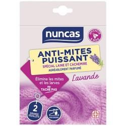 Anti-Mites - Feuillet pour armoire x 2 - Lavande - NUNCAS - Insectes volants - DE-564469