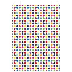 Sachet cadeau x 250 - Pois multicolores - 18 X 35 cm - PAPETERIES DU POITOU - Bazar - DE-578551