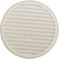 Grille universelle à ressort - Pastique - Blanc - Diamètre 140 mm - DMO - Grille de ventilation - BR-192194