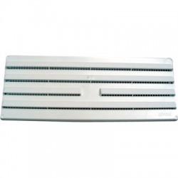 Grille en applique fixe - Plastique - Blanc - 245 x 95 mm - DMO - Grille de ventilation - BR-192190