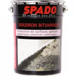 Goudron bitumeux - Anti-humidité - Spécial matériaux enterrés - 4 L - SPADO - Enduit anti-humidité / étanchéité - BR-330880