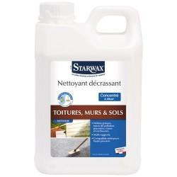 Nettoyant décrassant - Toiture / Mur / Sol - Concentré à diluer - 2 L - STARWAX - Produits multi-usages - DE-265372