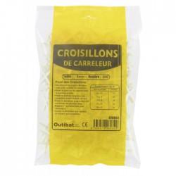 Sachet de 500 croisillons de carreleur - 2 mm - OUTIBAT - Croisillons pour carrelage - BR-826220