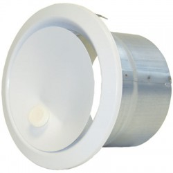 Bouche de soufflage directionnelle Ronde- ⌀ 100 mm - DMO - Distribution air chaud - BR-730892